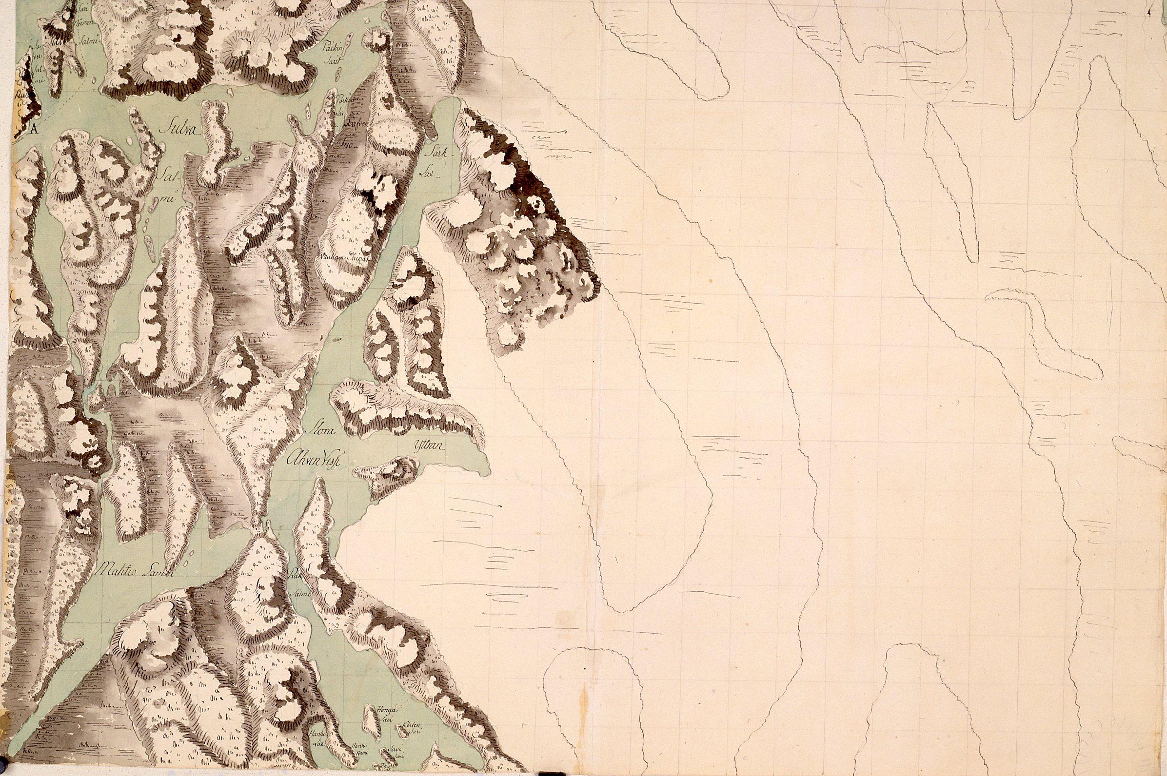 Maastotiedustelukartoitus 1700 Luvulta Pieksamaen Kaupunginkirjasto